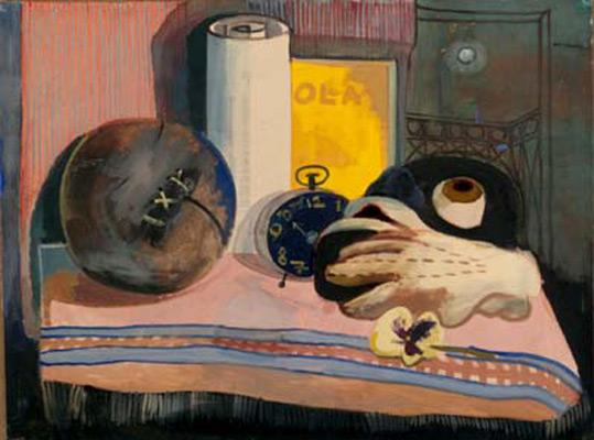 Still-life with Mask, Glove, and Football
